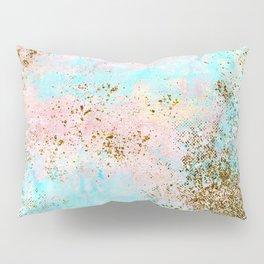 Pink and Gold Mermaid Sea Foam Glitter Pillow Sham