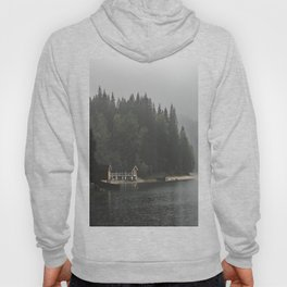Foggy mornings at the lake II - landscape photography Hoody
