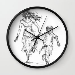 Eponine and Gavroche  Wall Clock