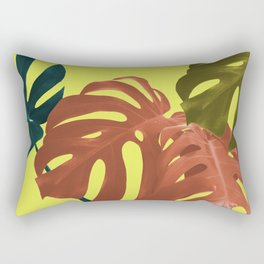 Botanical Minimal Living with Yellow Background Rectangular Pillow