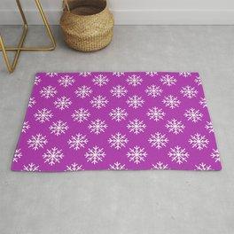 Snowflakes (White & Purple Pattern) Rug