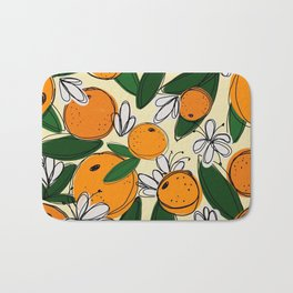 Oranges in Bloom Bath Mat