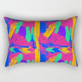 Wild Paint Brush Colors and Music Sheets Rectangular Pillow