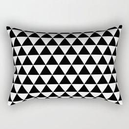 Black Triangle Pattern Rectangular Pillow