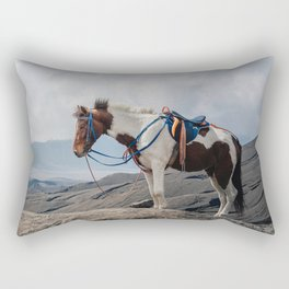 The Horse and the Volcano Rectangular Pillow