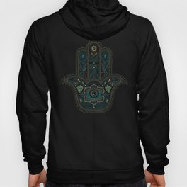 Hamsa Hand in Blue and Gold Hoody