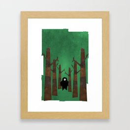 Sasquatch in Trees Framed Art Print