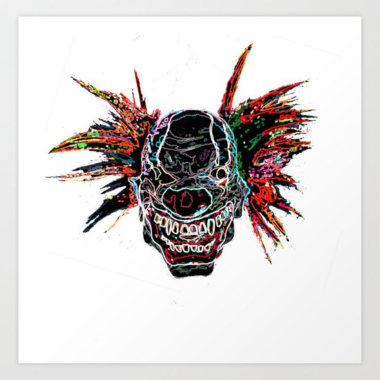 Psychedelic Clown Art Print