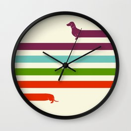 (Very) Long Dachshund Wall Clock