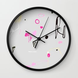 Pink and black funfair Wall Clock