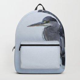 Observer - Heron in the Harbour - Seascape #decor #society6 #buyart Backpack