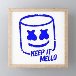 Marshmello - Keep It Mello Dark Blue Framed Mini Art Print
