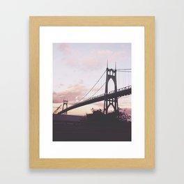 St. John's Bridge  Framed Art Print