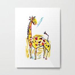 Giraffe 1 Metal Print