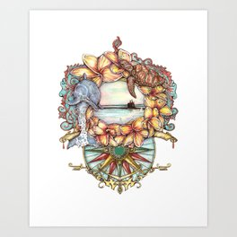 Aloha Submarine Art Print