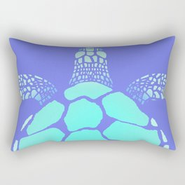 Ocean Blue Turtle Rectangular Pillow