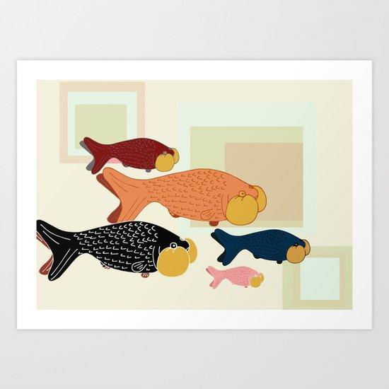 bubble-eye menagerie Art Print