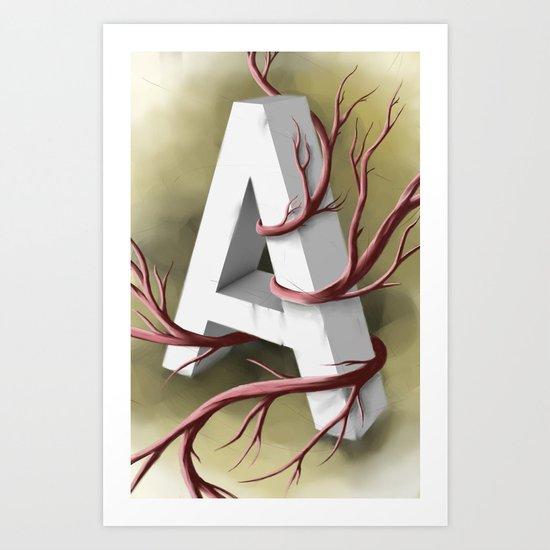"""""""A"""" Art Print"""