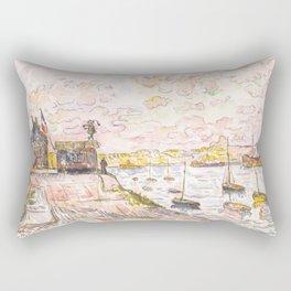 """Paul Signac """"Quilleboeuf"""" Rectangular Pillow"""