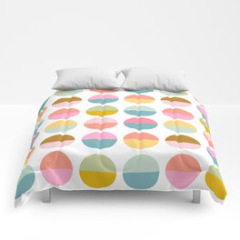 Colorful and Bright Circle Pattern Comforters
