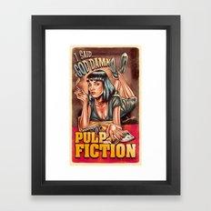Mia Wallace - Pulp Fiction Framed Art Print
