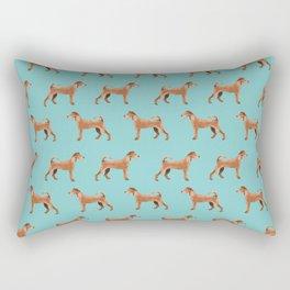 Irish Terrier dog breed pet pattern dog art pet friendly terriers portrait Rectangular Pillow