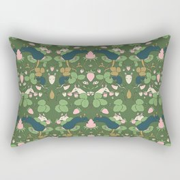 Strawberry Rat Thieves (green) Rectangular Pillow