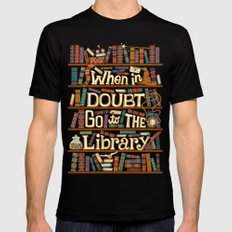 Go to the library Mens Fitted Tee Black LARGE