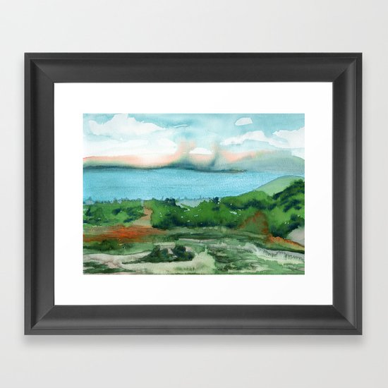 Passing Afternoon Framed Art Print