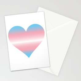 Trans Heart Stationery Cards