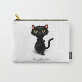 yoga cat warrior 2 Carry-All Pouch