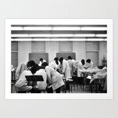 Human Anatomy Lab, University of Chicago , 1976 Art Print