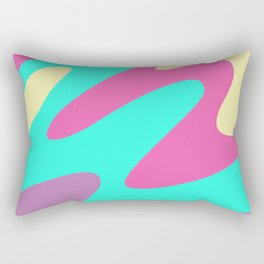 Abstraction. Cheerful multicolored waves. Rectangular Pillow