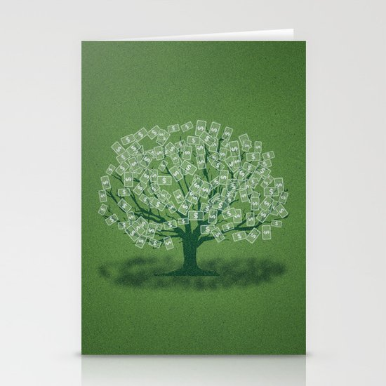 Money Tree Stationery Cards