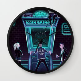 Alien Embargo Wall Clock