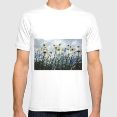 Marguerites Mens Fitted Tee SMALL White