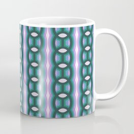 Retro-Delight - Continuous Chains (Oval) - Paradise Coffee Mug