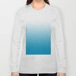 Ombre Hawaiian Ocean Gradient Motif Long Sleeve T-shirt