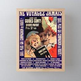 Voyages 1888 Vintage French Advertising Framed Mini Art Print