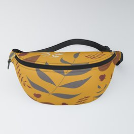 Autumn leaves and acorns - ochre and brown Fanny Pack