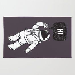 Greetings from space Rug