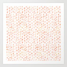 Pretty Peach Watercolor Abstract Art Print