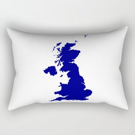 U.K. and Northern Ireland Silhouette Rectangular Pillow