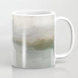 Modern Abstract Painting, Light Teal, Sage Green, Gray Cloudy Weather Digital Prints Wall Art, Ocean Coffee Mug