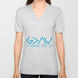 God Is Greater Than HIghs And Lows Disciple And Christian Gift Unisex V-Neck