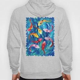 Koi fish rainbow abstract paintings Hoody