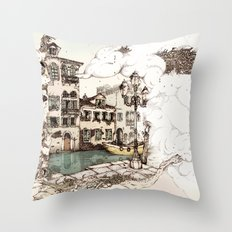 Vivaldi's morning in Venice Throw Pillow