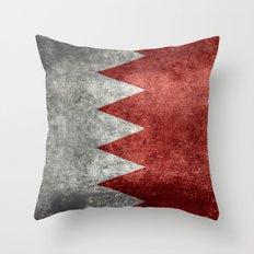 The flag of the Kingdom of Bahrain - Vintage version Throw Pillow