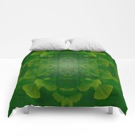 Spring ginko tree Comforters