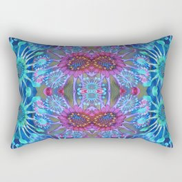 Passionflower Fractal Floral Rectangular Pillow